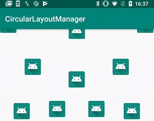 Simple in usage Recycler Layout Manager with circular item positioning