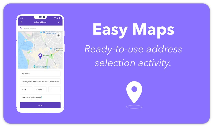 Ready to use Address Selection Library using Google Maps and
