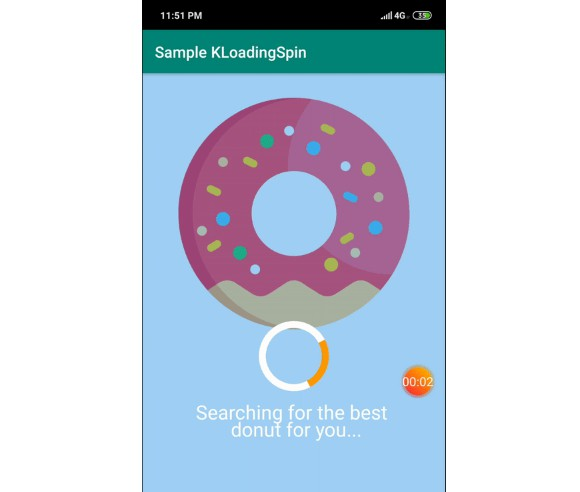 A custom loading spinner for android