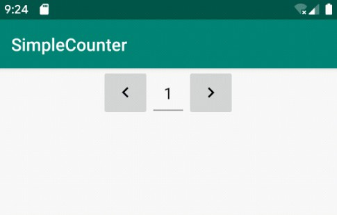 A simple implementation of a counter custom view with android