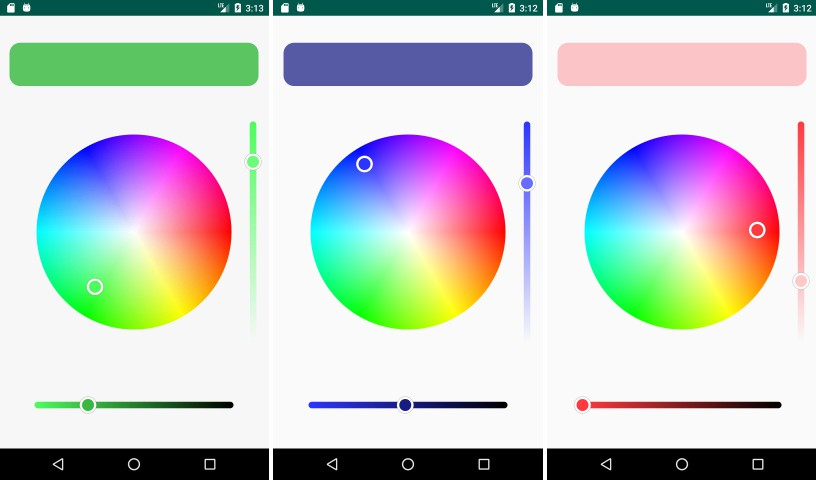 A library for Android that provides HSV Color Wheel and Linear Gradient Seek Bar