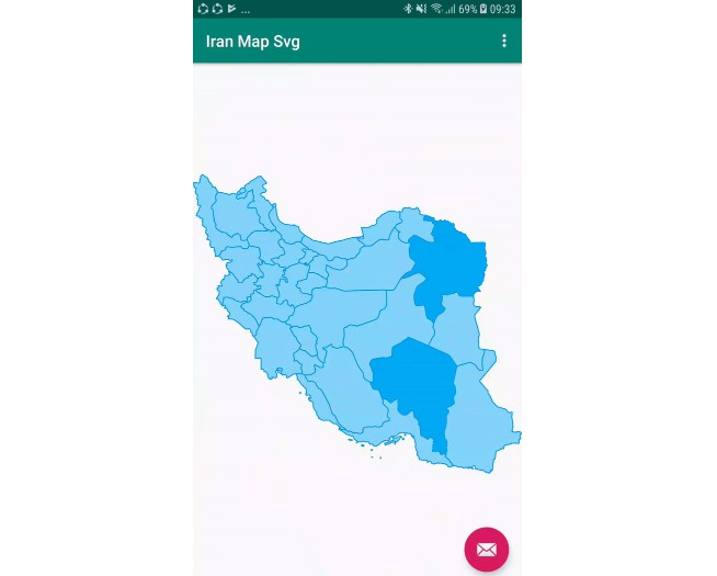 Iran map android library