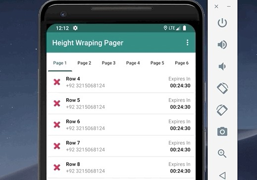 Wrap Content View Pager Library For Android