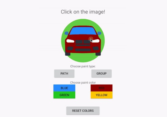 PaintableVectorView enables to change color of paths/groups in Vector Drawable