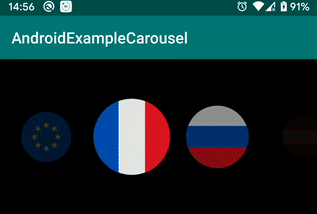 A simple example of how to make a carousel effect on Android