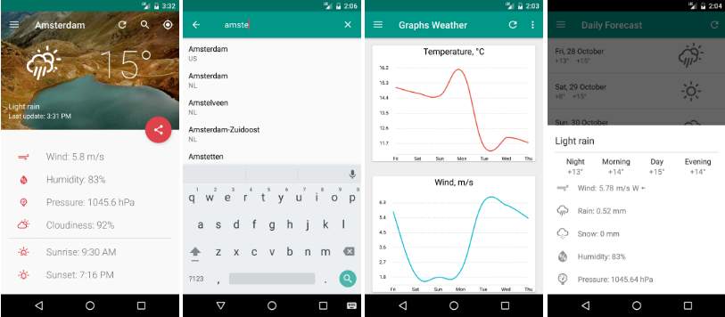Open source weather app for Android