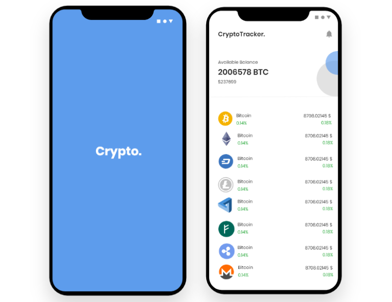 An app that shows daily update on electric coins