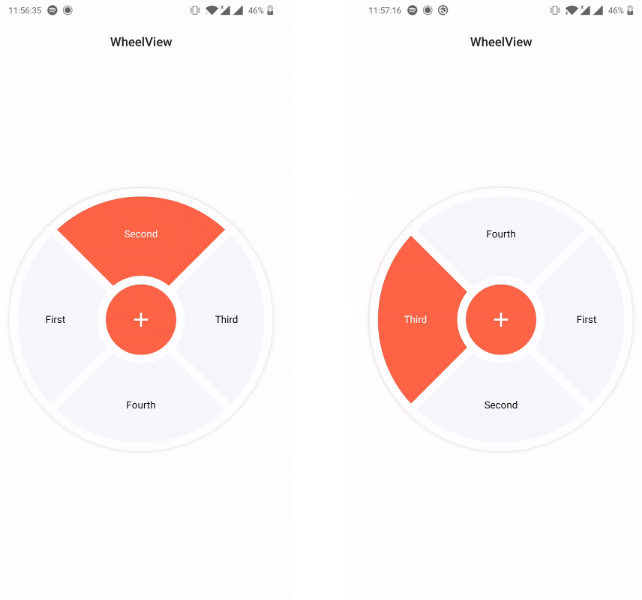 Android UI library to create wheels
