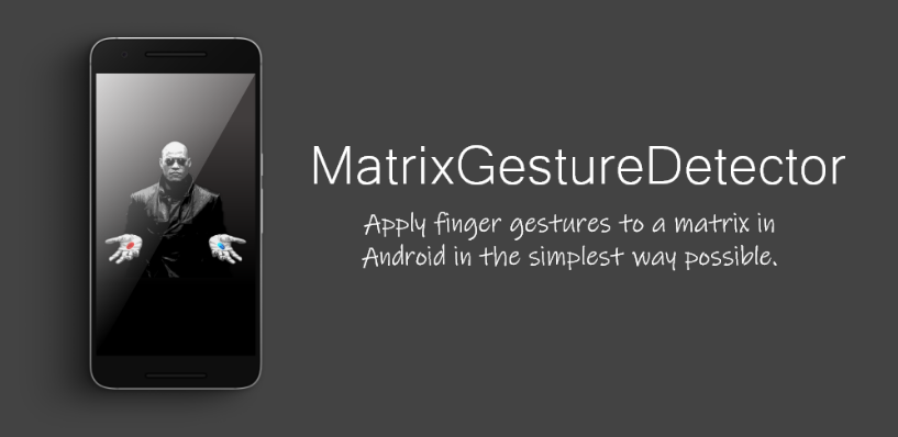 Apply finger gestures to a matrix in Android in the simplest way possible