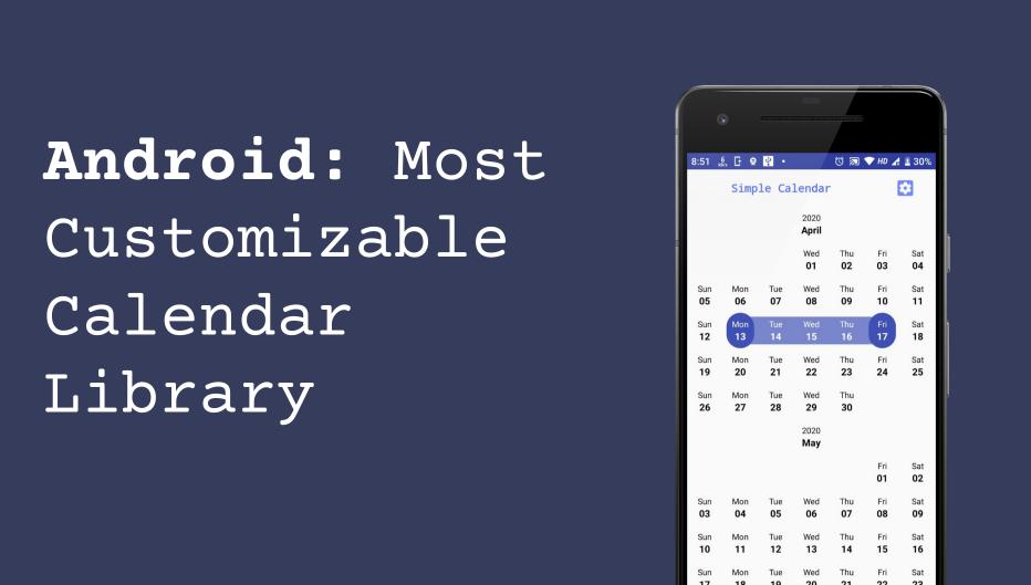 A DIY calendar generator library for android written in Kotlin