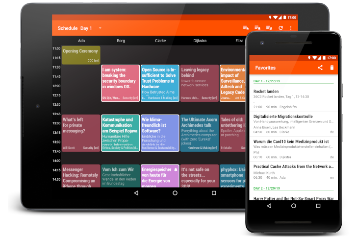 An Android app to enjoy event schedules powered by Frab or Pretalx