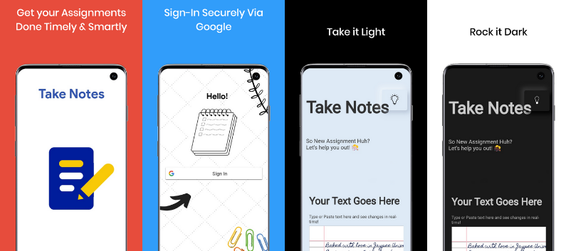 An Android Application that Converts Text to Handwriting