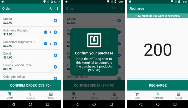 A simple NFC payment system to manage visitor consumption at short-duration events