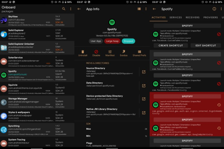 A full-featured package manager and viewer for Android