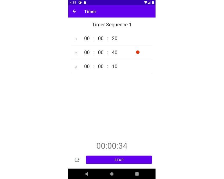 A simple, no-frills but efficient timer app for android